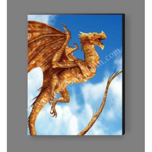 Citrine Dragon Canvas Print
