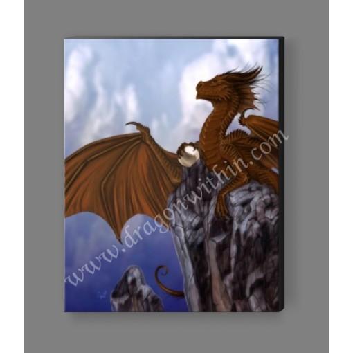 Copper Dragon Canvas Print