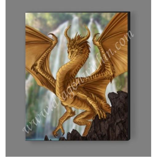 Gold Dragon Canvas Print