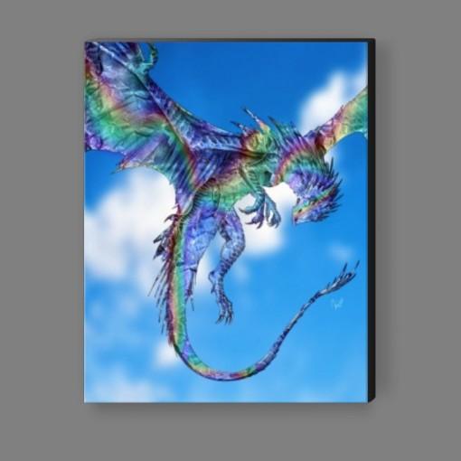 Diamond Rainbow Dragon Canvas Print