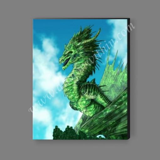Emerald Dragon Canvas Print