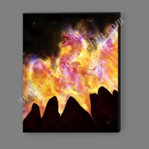 Flame Dragon Canvas Print