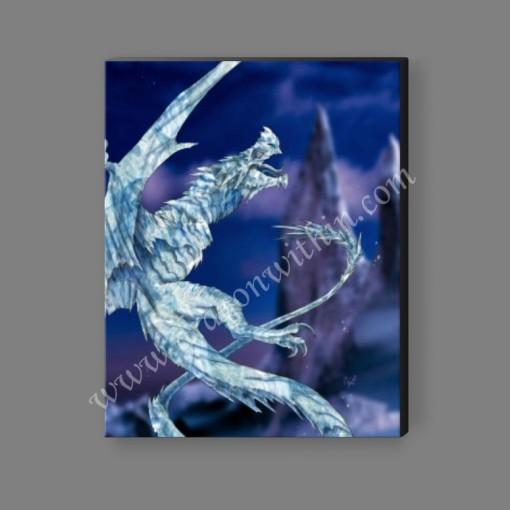 Ice Dragon Canvas Print