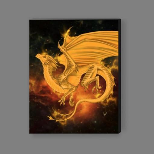 Pleiadean Dragon Canvas Print - Tangerine