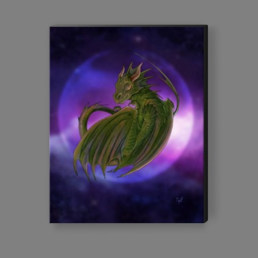 Dreaming Into Being Dragon Canvas Print 1