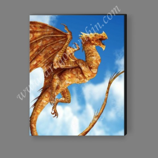 Citrine Dragon Canvas Print