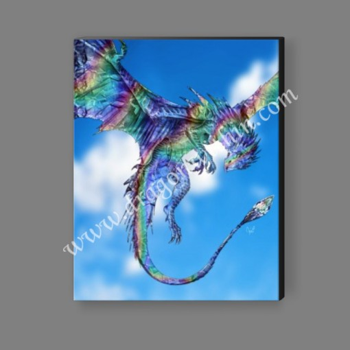 Diamond Rainbow Dragon Canvas Print