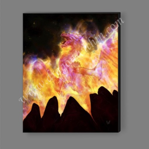 Flame Dragon Canvas Print