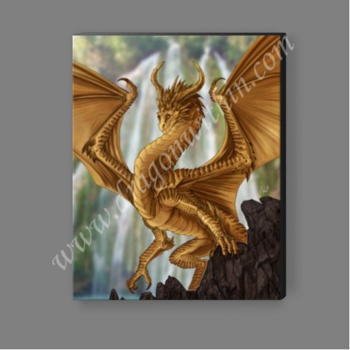 Gold Dragon Canvas Print