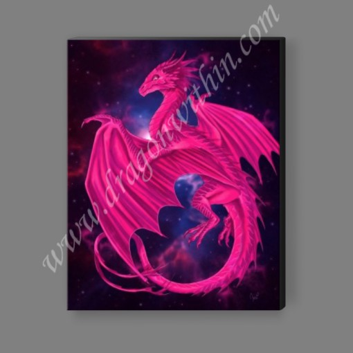 Pleiadean Dragon Canvas Print - Hot Pink