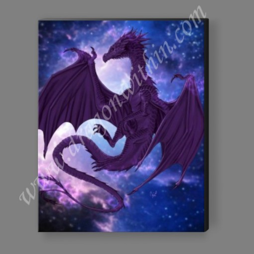 Pleiadean Dragon Canvas Print - Indigo