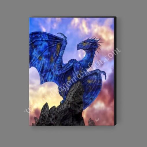 Lapis Dragon Canvas Print