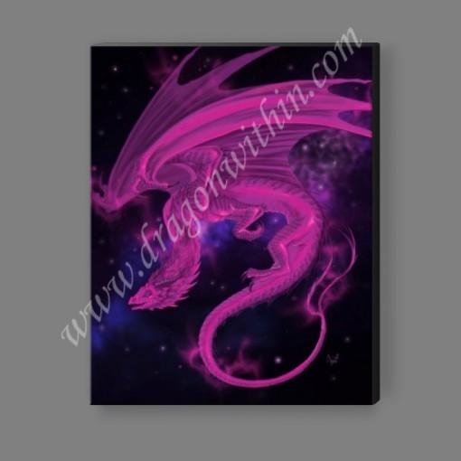 Pleiadean Dragon Canvas Print - Magenta