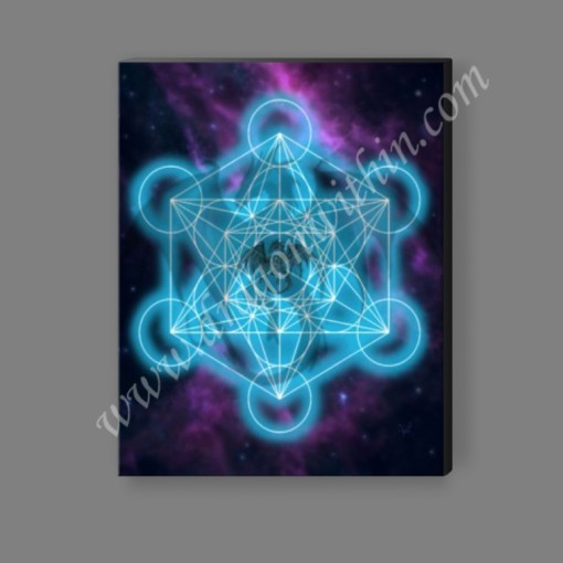 Metatron's Cube Dragon Canvas Print