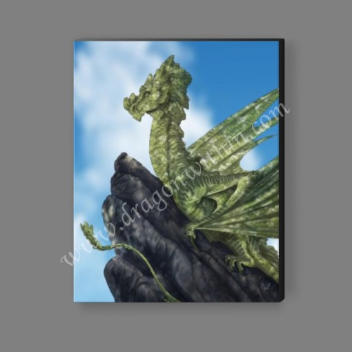 Moldavite Dragon Canvas Print
