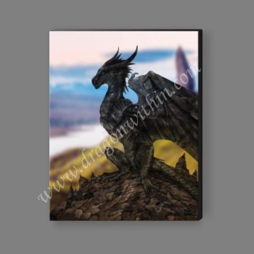 Obsidian Dragon Canvas Print
