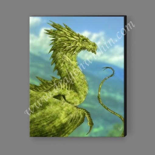 Peridot Dragon Canvas Print