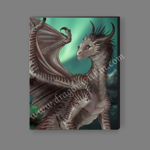 Platinum Dragon Canvas Print