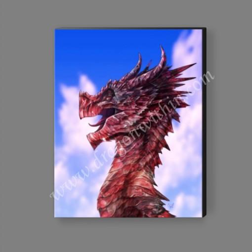 Ruby Dragon Canvas Print