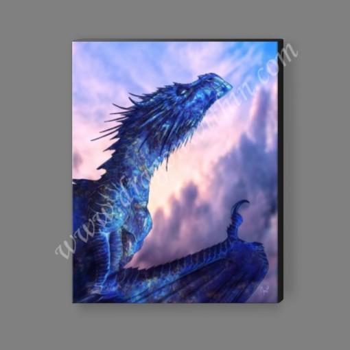 Sapphire Dragon Canvas Print
