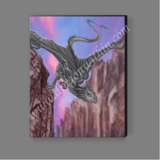 Silver Dragon Canvas Print