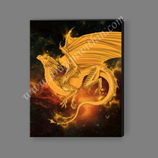 Pleiadean Dragon Canvas Print - Tangerine