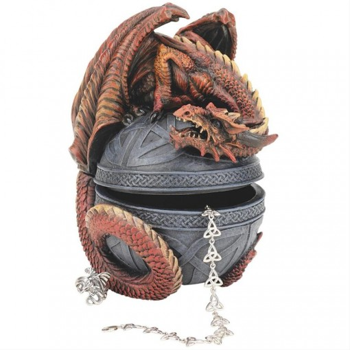 Dragon Celtic Orb Jewelry Box