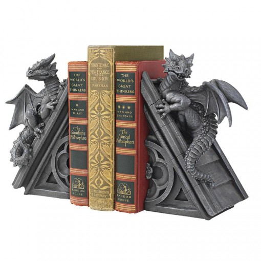 Castle Dragon Bookends