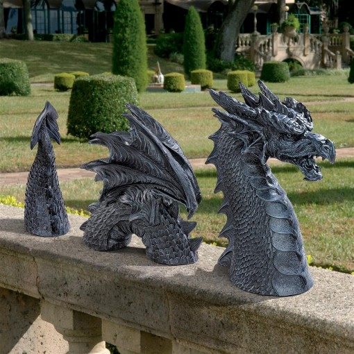 Serpentine Dragon Garden Sculpture
