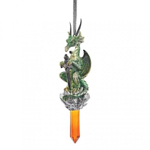 Green Dragon Crystal Ornament