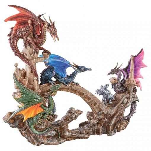 4 Elementals Dragon Statue