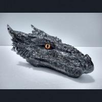 Black Orgonite Dragon