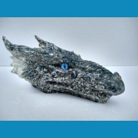 Blue Orgonite Dragon