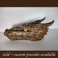 Brass Orgonite Dragon