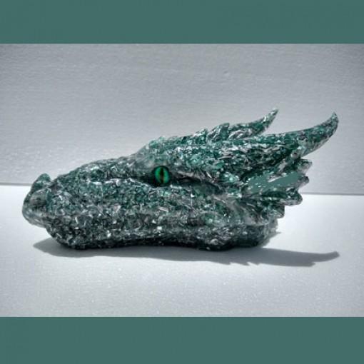 Green Orgonite Dragon