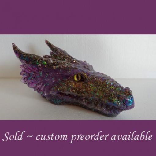 Purple Orgonite Dragon