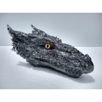 Black Orgonite Dragon