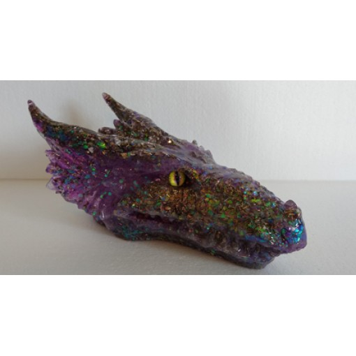 Purple Orgonite Dragon