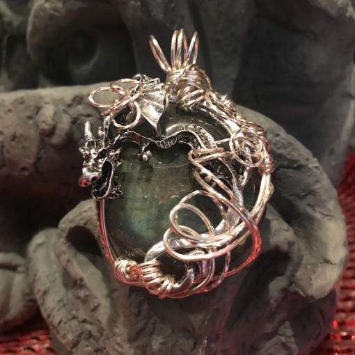 Stone Wrap Pendant - Labradorite 1