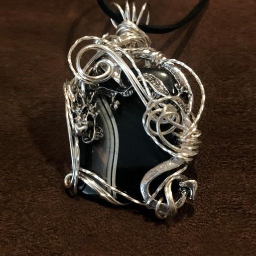 Stone Wrap Pendant - Black Onyx 1