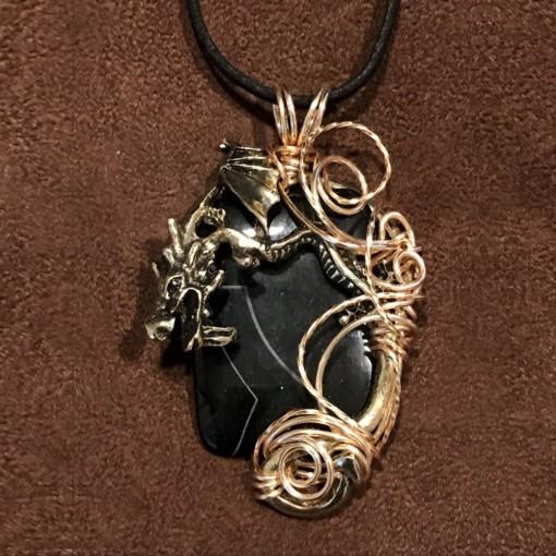 Stone Wrap Pendant - Black Onyx 2