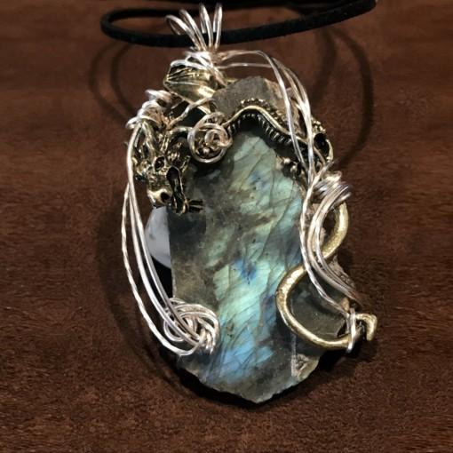 Stone Wrap Pendant - Labradorite 3